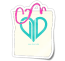 Heart Tote w/ Hot Pink Straps — $8